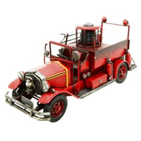 Fire Engine Metal Ornament