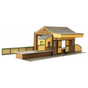 Superquick A07.0 OO Gauge Red Brick Goods Depot Card Kit