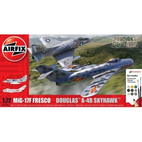 Airfix A50185 Mig 17F Fresco Douglas A-4B Skyhawk Dog Fight Double Starter Set