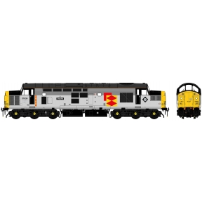 Accurascale Class 37/0 37026 Shapfell Railfreight Triple Grey Railfregiht Distribution With Car Style Headlight