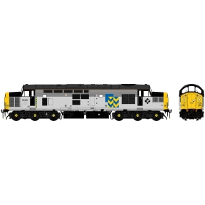 Accurascale Class 37/0 37051 Railfreight Triple Grey Metals Sector With Car Style Headlight