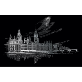 Big Ben & Parliament Engraving Art