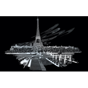 Eiffel Tower Engraving Art