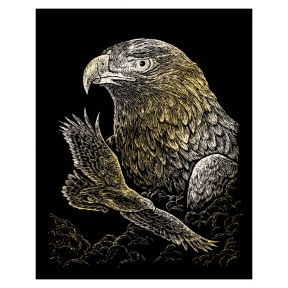 Eagles Gold Engraving Art