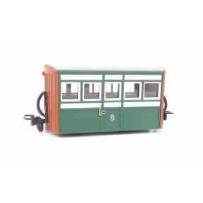 Peco GR-551 OO-9 Ffestiniog Bug Box 1st Class Coach No.2 Green & Red