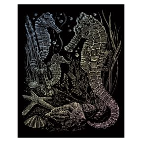 Sea Horses Holographic Engraving Art