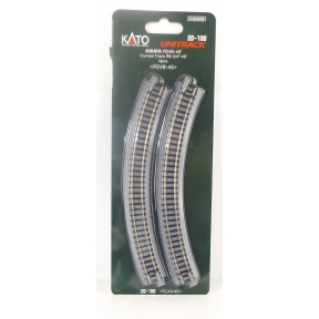 Kato N Gauge Unitrack (R249-45) Curved Track 45 Degree (Pack Of 4)