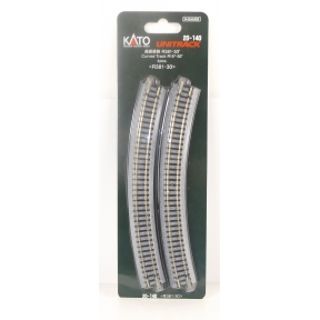 Kato N Gauge Unitrack (R381-30) Curved Track 30 Degree (Pack Of 4)