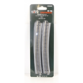 Kato N Gauge Unitrack (R718-15) Curved Track 15 Degree (Pack Of 4)