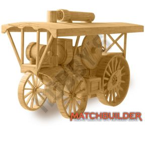 Steam Traction Engine Matchstick Kit