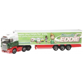 Oxford Diecast NSHL16FR Scania Highline Fridge Trailer Steady Eddie