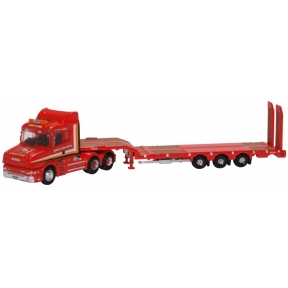 Oxford Diecast NTCAB006 Scania T Cab Semi Low Loader Sandy Kydd