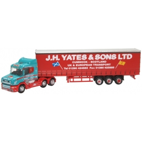 Oxford Diecast NTCAB008 Scania T Cab Curtainside J H Yates & Sons