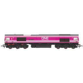 Hornby R3923 Hornby Class 66 66587 'As One, We Can' Freightliner/One Pink