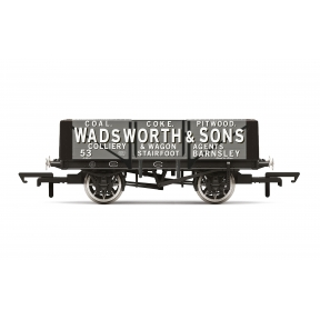 Hornby R60024 OO Gauge 5 Plank Wagon 'Wadsworth & Sons'