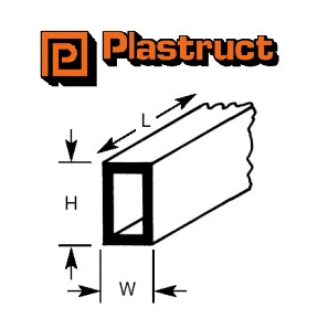 Plastruct Rectangular Tube