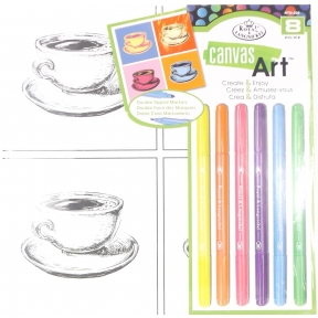 Canvas Art Markers Teacups