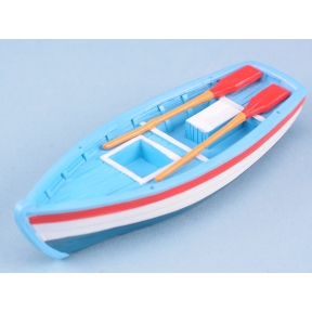 Rowing boat - 10cm Red white & blue hull
