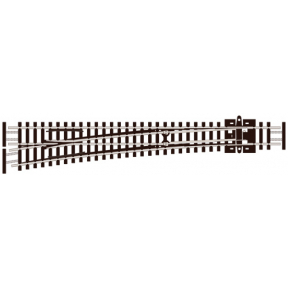 Peco SL-E389F N Gauge Code 55 Curved Left Hand Electrofrog Point