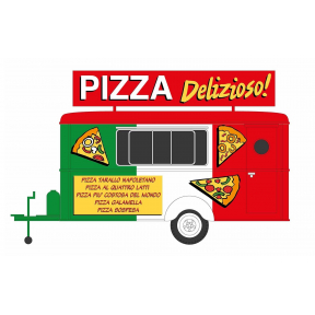 HO Gauge Pizza Food Trailer